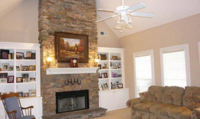 Stacked Stone Fireplace Ideas