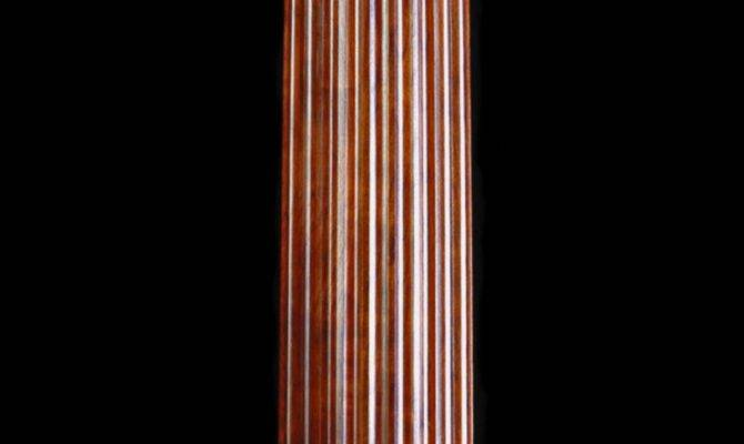 Stain Grade Fluted Cherry Wood Tuscan Column