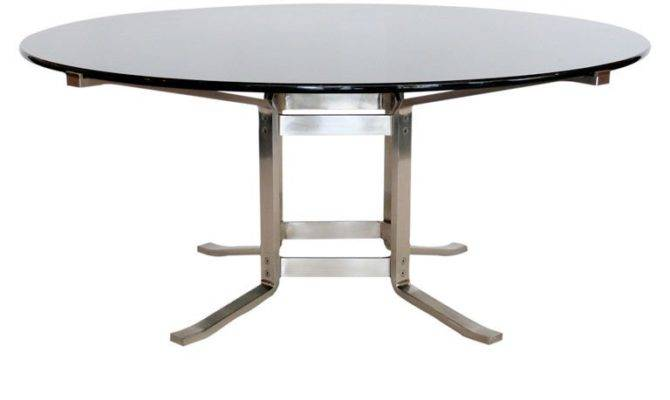 Stainless Steel Glass Italian Dining Table Stdibs