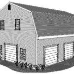 Stall Gambrel Garage Building Plans Open Walk