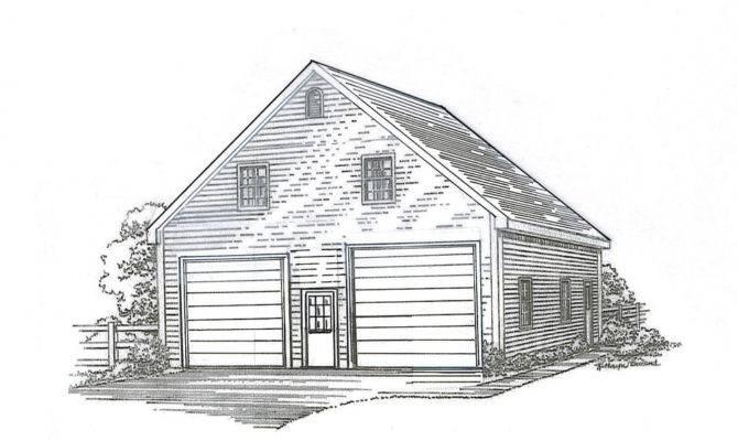 Stall Garage Building Blueprint Plans Loft