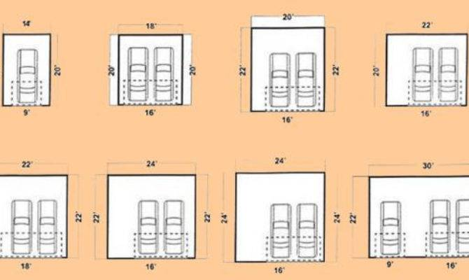 Standard Two Car Garage Home Desain