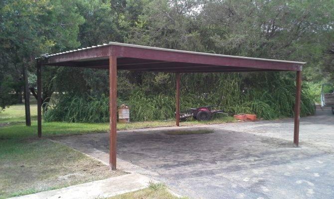 Standing All Metal Carport Karnes County Texas Patio