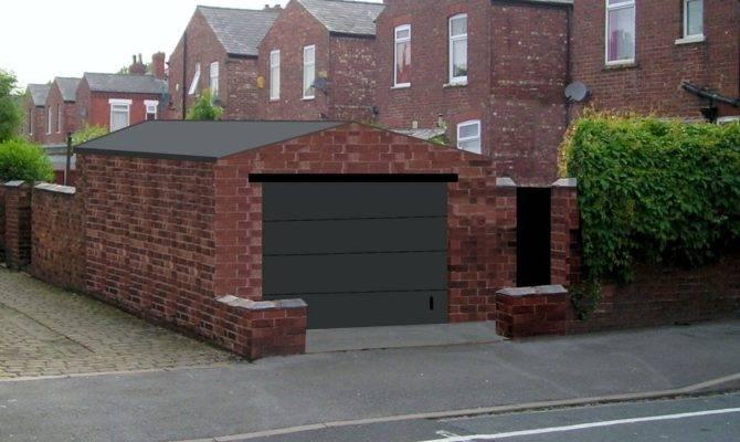 Standing Brick Garage Build Garages Sheds Job Stockport