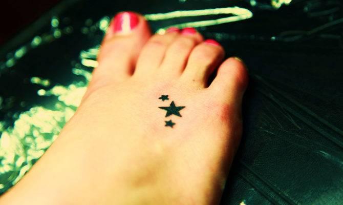 Star Foot Tattoos One Most Popular Tattoo Design