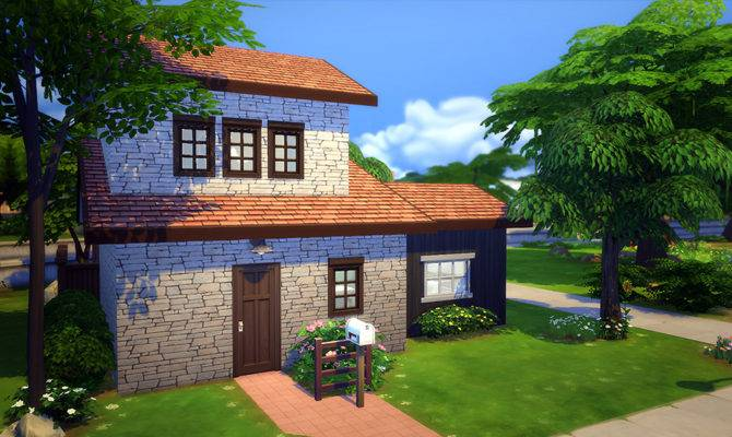 Starter Brick Home Sims Houses