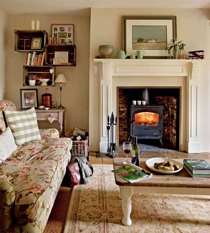 Steps Creating Country Cottage Style Living Room House Plans 164589