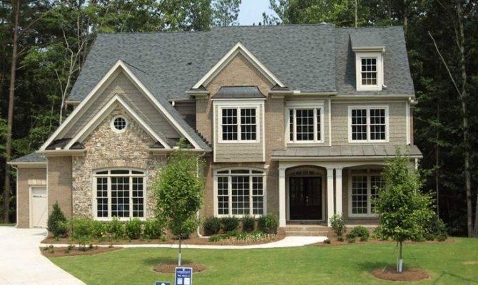 Stone Brick Cedar Shake Exterior Build Home Pintere