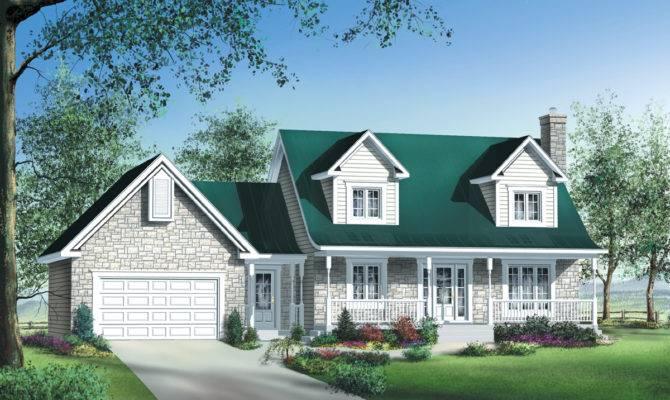 Stone Brick Siding House Plan