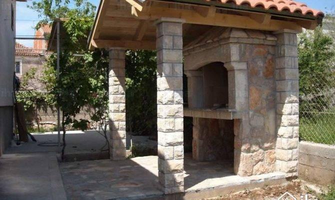 Stone Built House Man Advert