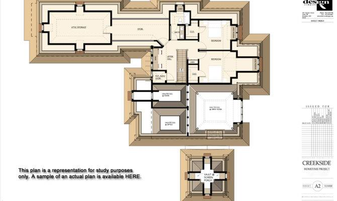Stone Cottage Second Floor Study Plan