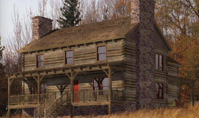 Stone Creek Log Home Plan Precisioncraft Timber