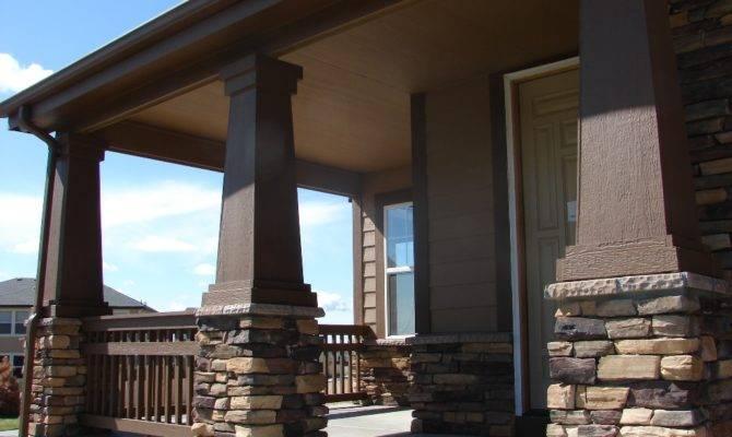 Stone Front Porch Pillars House Pretty Pinterest