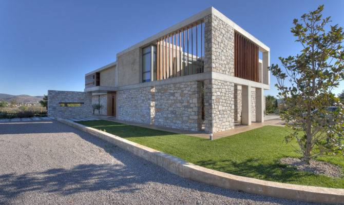 Stone House Anavissos Whitebox Architects Archdaily