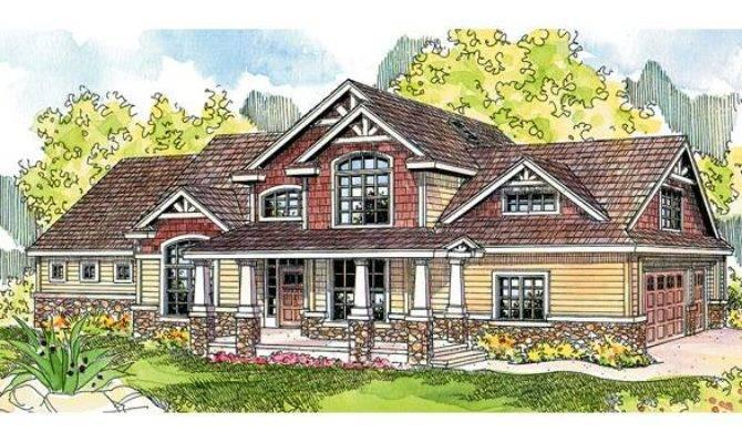 Stone Log Glass House Plans Home Design