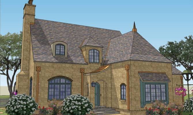 Stone Small French Country Cottage House Plans