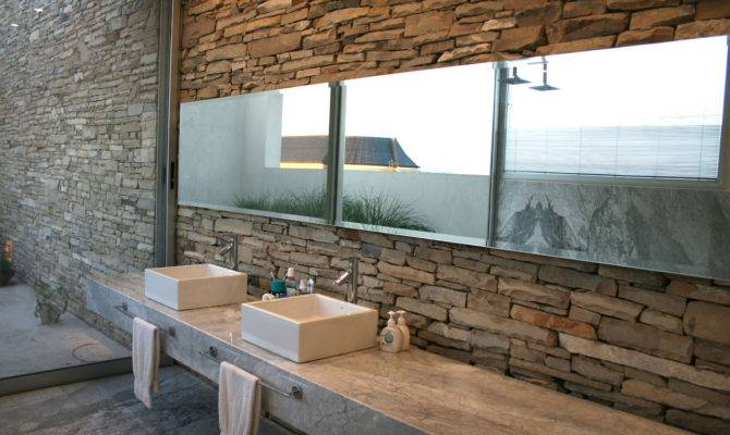 Stone Wall House Design