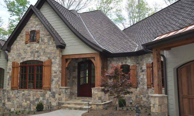 Stone Wood House Exterior Homes Pinterest