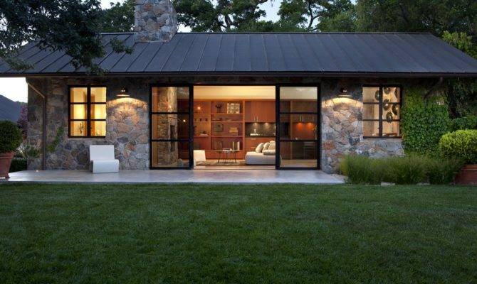 Stones Wall Modern Cottage House Plans Plan