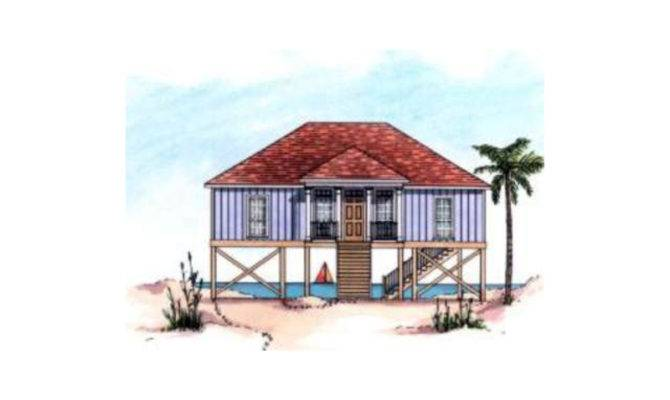 Stoney Hill Raised Beach Home Plan House Plans