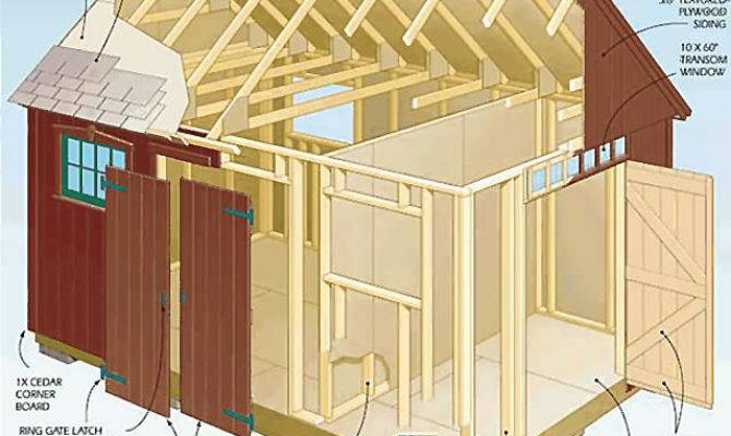 Storage Building Plan Diy Woodworking Your