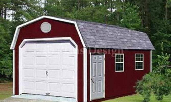 Storage Shed Workshop One Car Garage Barn