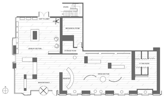 Store Plan Sections Clothing Boutique Floor