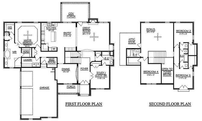 Storey Bedroom House Plans Homes Floor