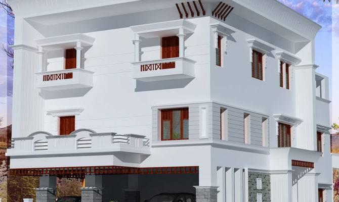 Storey Flat Roof Home Design Kerala