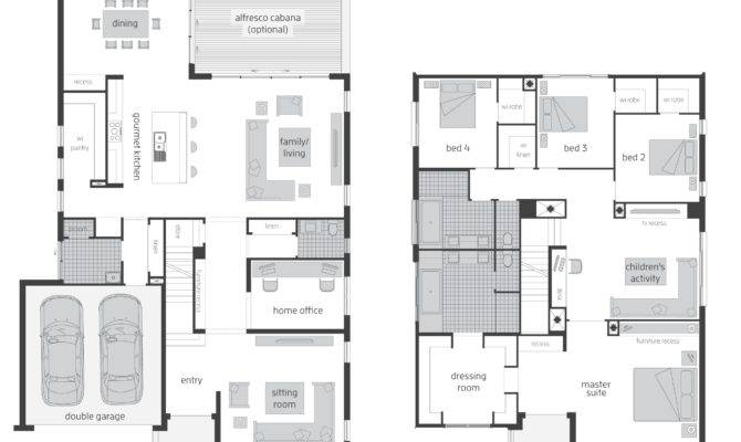 Storey Floor Plan Beautiful Places Home Plans