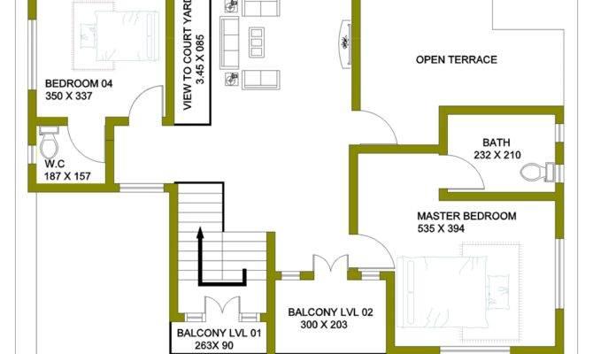 Storey House Design Floor Plan Feet