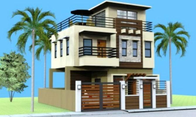 Storey House Design Roof Deck Ideas House Plans 89643