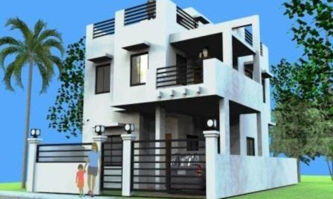 Storey House Design Rooftop Modern Plan