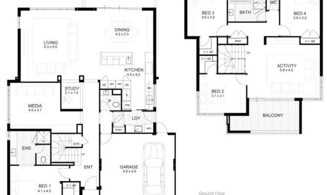 Storey Modern House Design Floor Plan