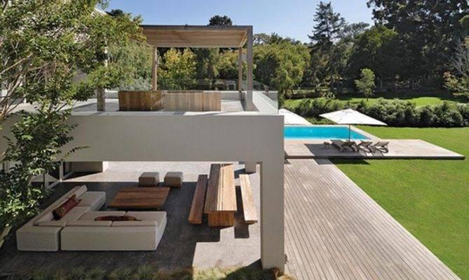 Storey Open Concept House Outdoor Living Room Area Olpos Design