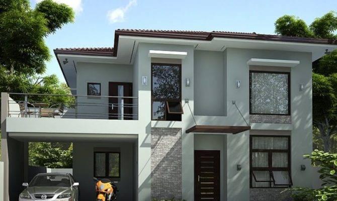 Storey Simple Modern House Design Home Ideas