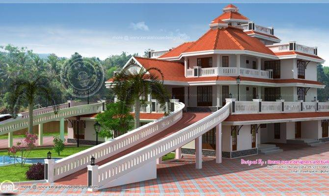 Storey Super Luxury Mansion Kerala Home