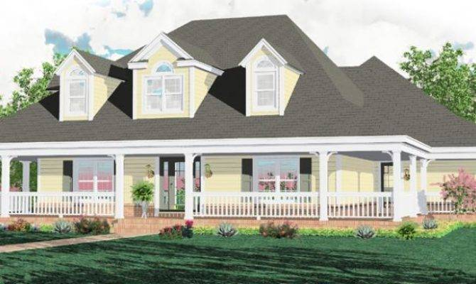 Story Bedroom Bath Country Style House Plan Plans