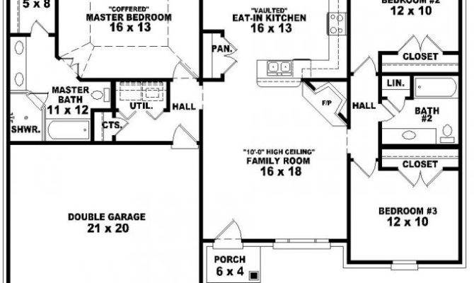 Story Bedroom Bath French Traditional Style House Plan