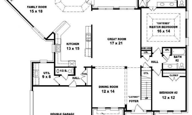 Story Bedroom Bath House Plans Photos Video