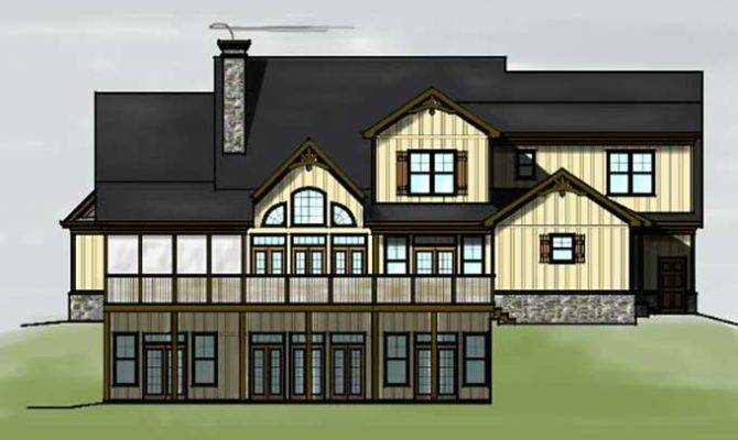 Story Bedroom Lake Mountain House Plan