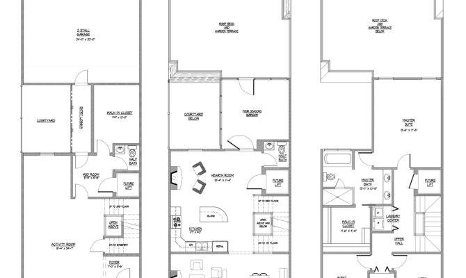 Story Bedroom Townhouse Floor Plans Quotes