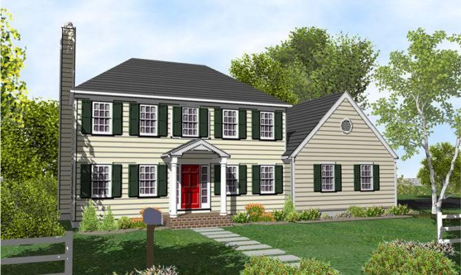 Story Colonial Home Plans Sale Original