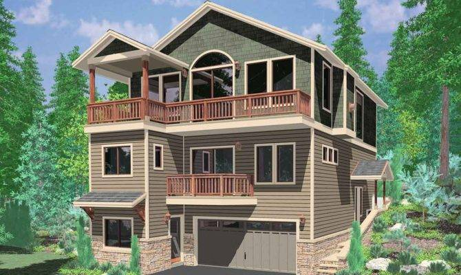 Story Craftsman House Plans Unique Front