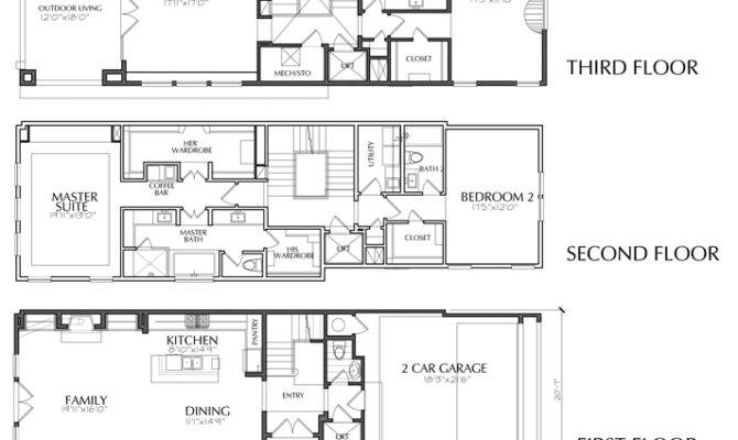 Story Dallas Townhouse Floor Plan Sale