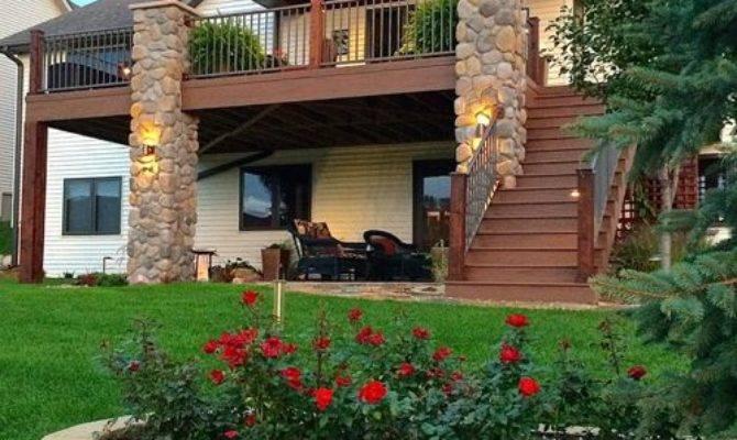 Story Deck Stairs Home Design Ideas Designs Houzz