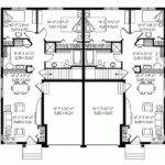 Story Duplex House Plans Eplans Epl