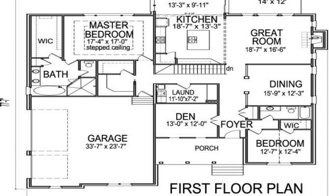 Story House Floor Plans Basement