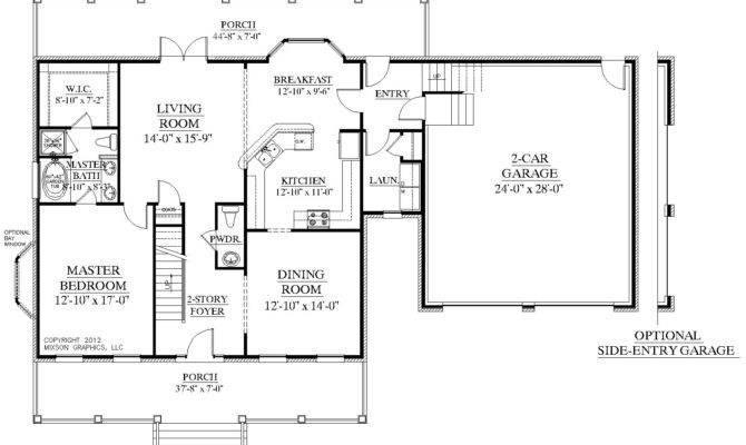 Story House Plan Bedrooms Baths Two