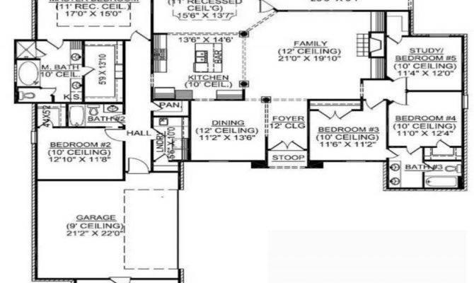 Story House Plans Basement Bedroom